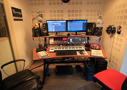 Foto dello studio di registrazione